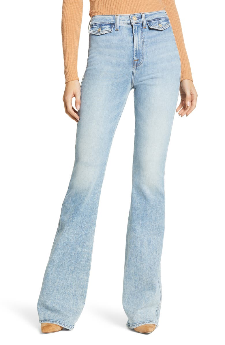 7 FOR ALL MANKIND<SUP>®</SUP> Modern A-Pocket High Waist Flare Leg Jeans, Main, color, 401