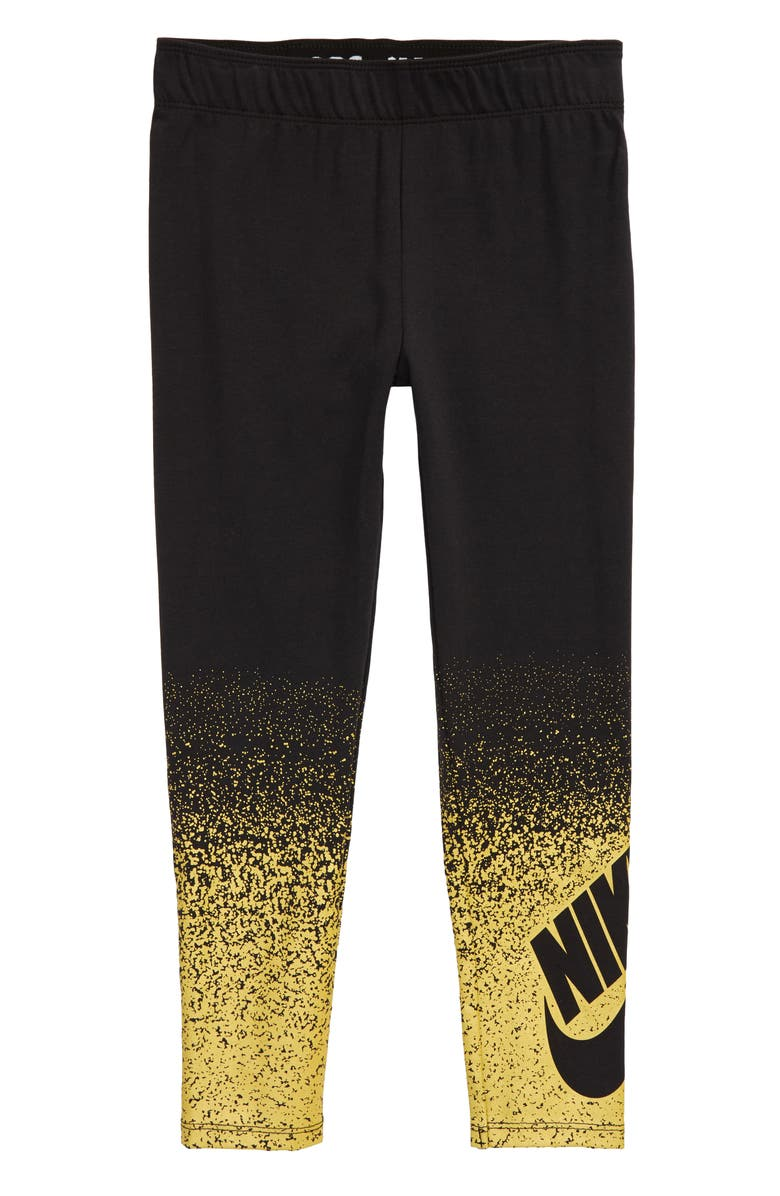 NIKE Sportswear Shine Spray Leggings, Main, color, BLACK