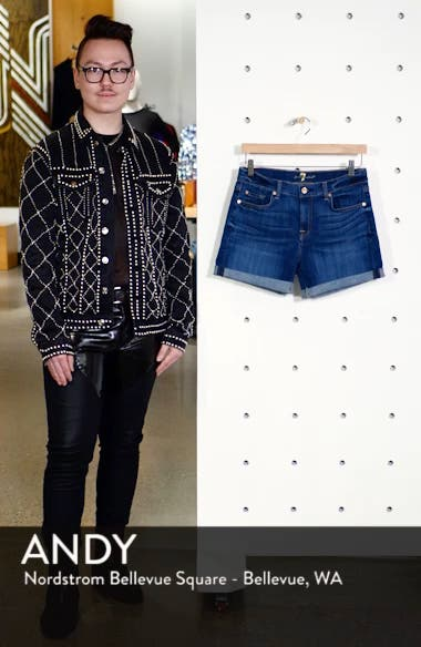 Roll Cuff Denim Shorts, sales video thumbnail