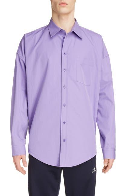 Image of Balenciaga Long Sleeve Button-Up Cocoon Shirt