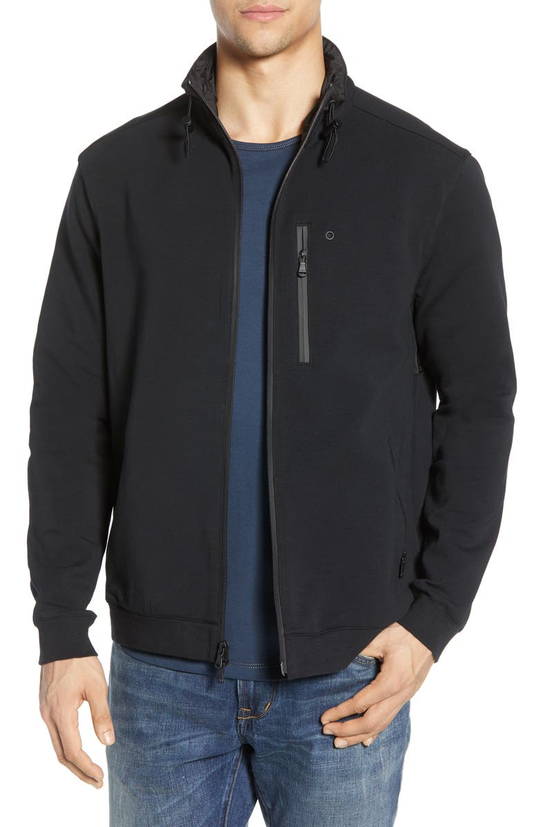 JOHN VARVATOS STAR USA Gavin Zip Jacket, Main, color, 001