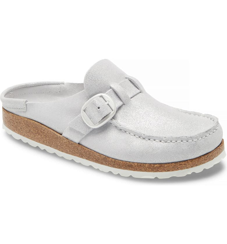 BIRKENSTOCK Buckley Clog, Main, color, SILVER SUEDE LEATHER