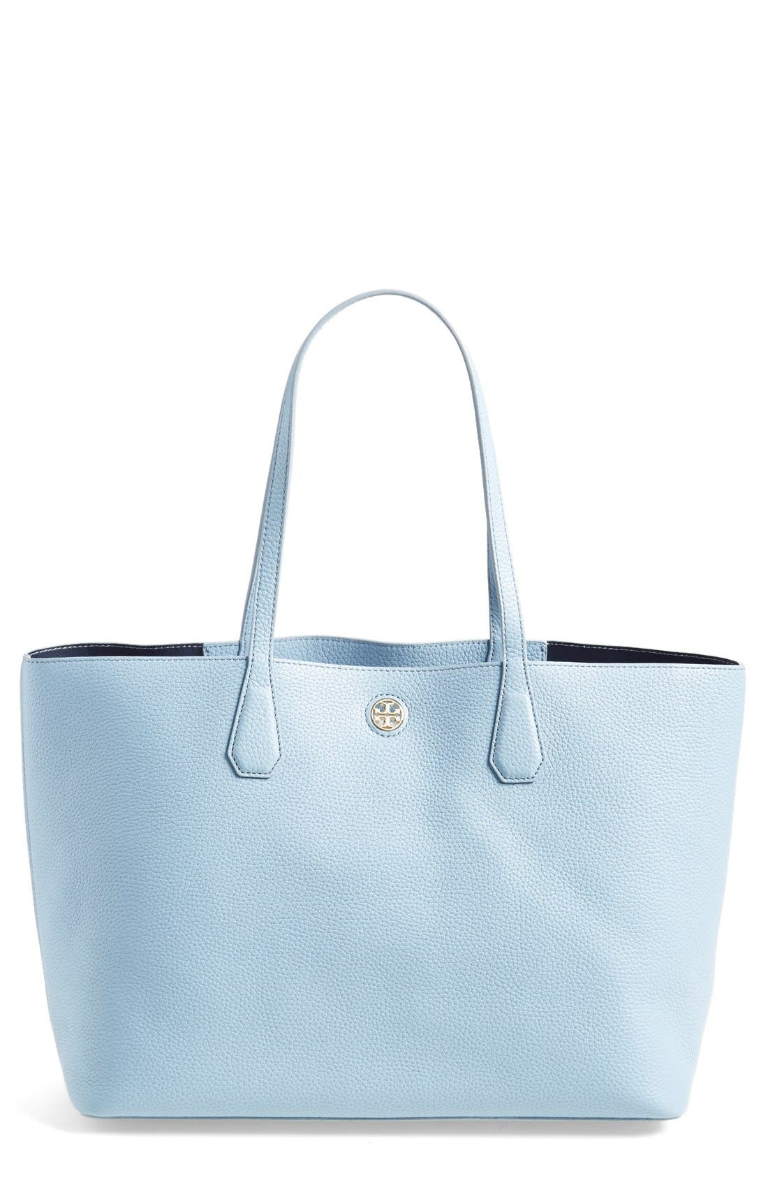 ,                             'Perry' Leather Tote,                             Main thumbnail 19, color,                             401
