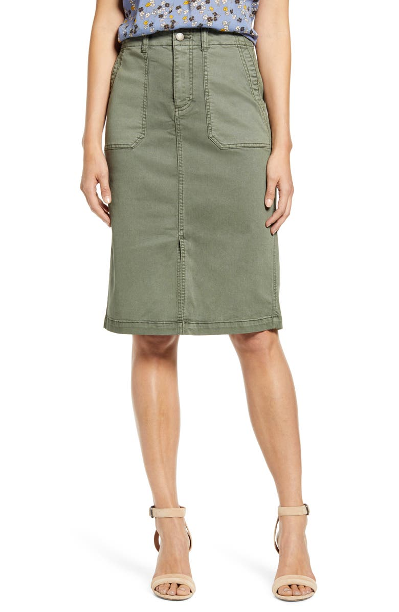 CASLON<SUP>®</SUP> Twill Cargo Skirt, Main, color, 301