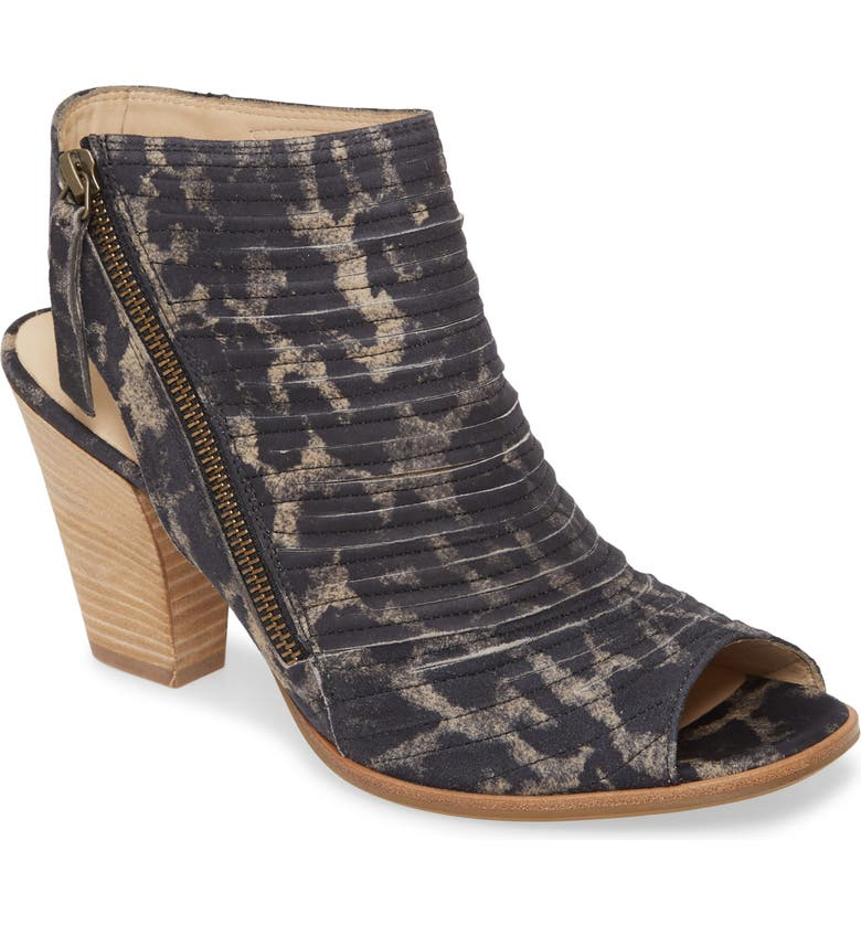 PAUL GREEN 'Cayanne' Leather Peep Toe Sandal, Main, color, WINTER LEOPARD
