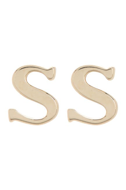 Image of Candela 10K Gold Plated Initial Stud Earrings