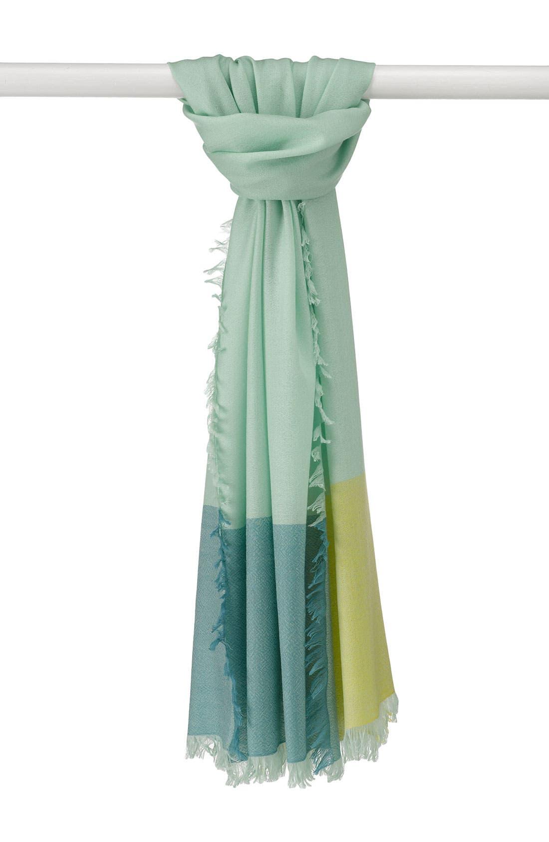 ,                             'Eyelash' Colorblock Cashmere Wrap,                             Main thumbnail 26, color,                             300