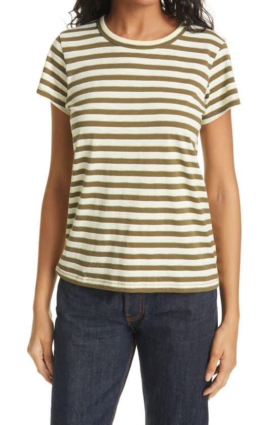 Rag & Bone T-shirts THE SLUB STRIPE ORGANIC PIMA COTTON T-SHIRT