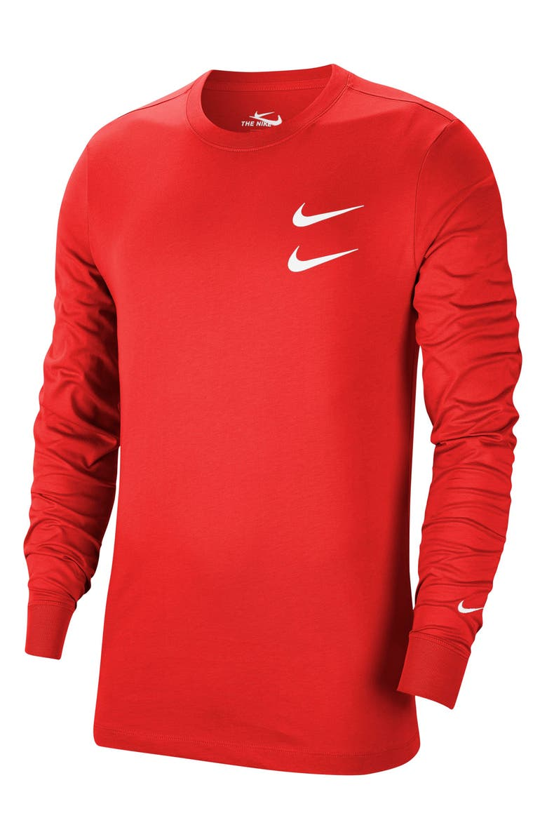 NIKE Sportswear Swoosh Long Sleeve Graphic Tee, Main, color, 891