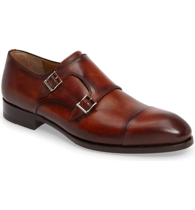MAGNANNI Louie Double Monk Strap Shoe, Main, color, 230