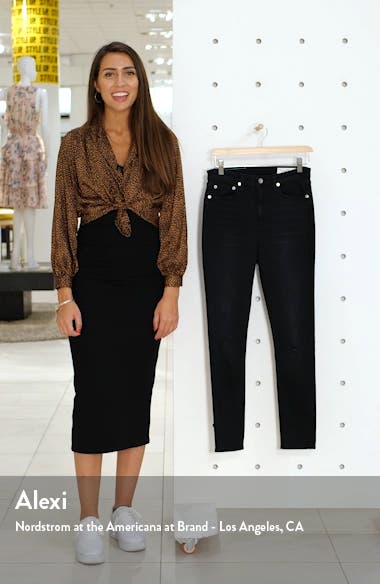 Nina Ripped High Waist Ankle Skinny Jeans, sales video thumbnail