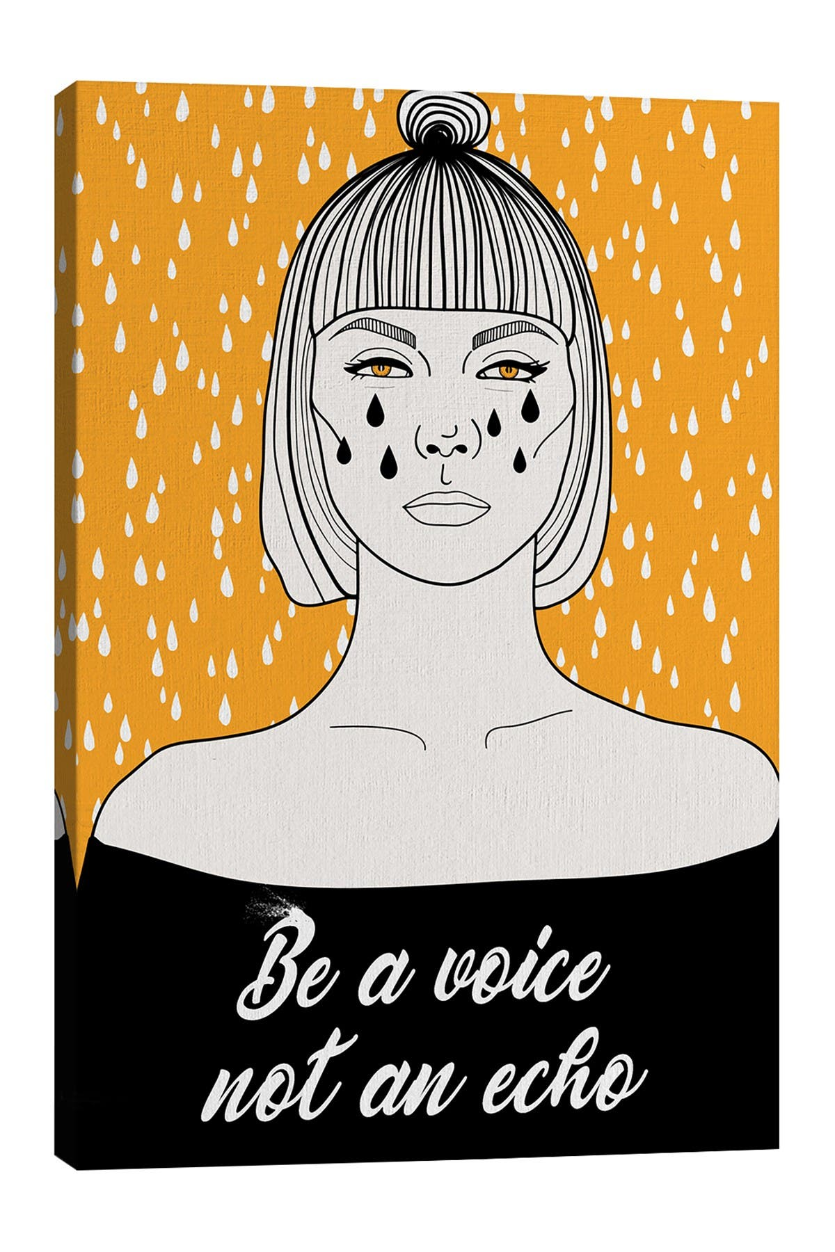 Image of iCanvas Be A Voice Not An Echo by Nettsch