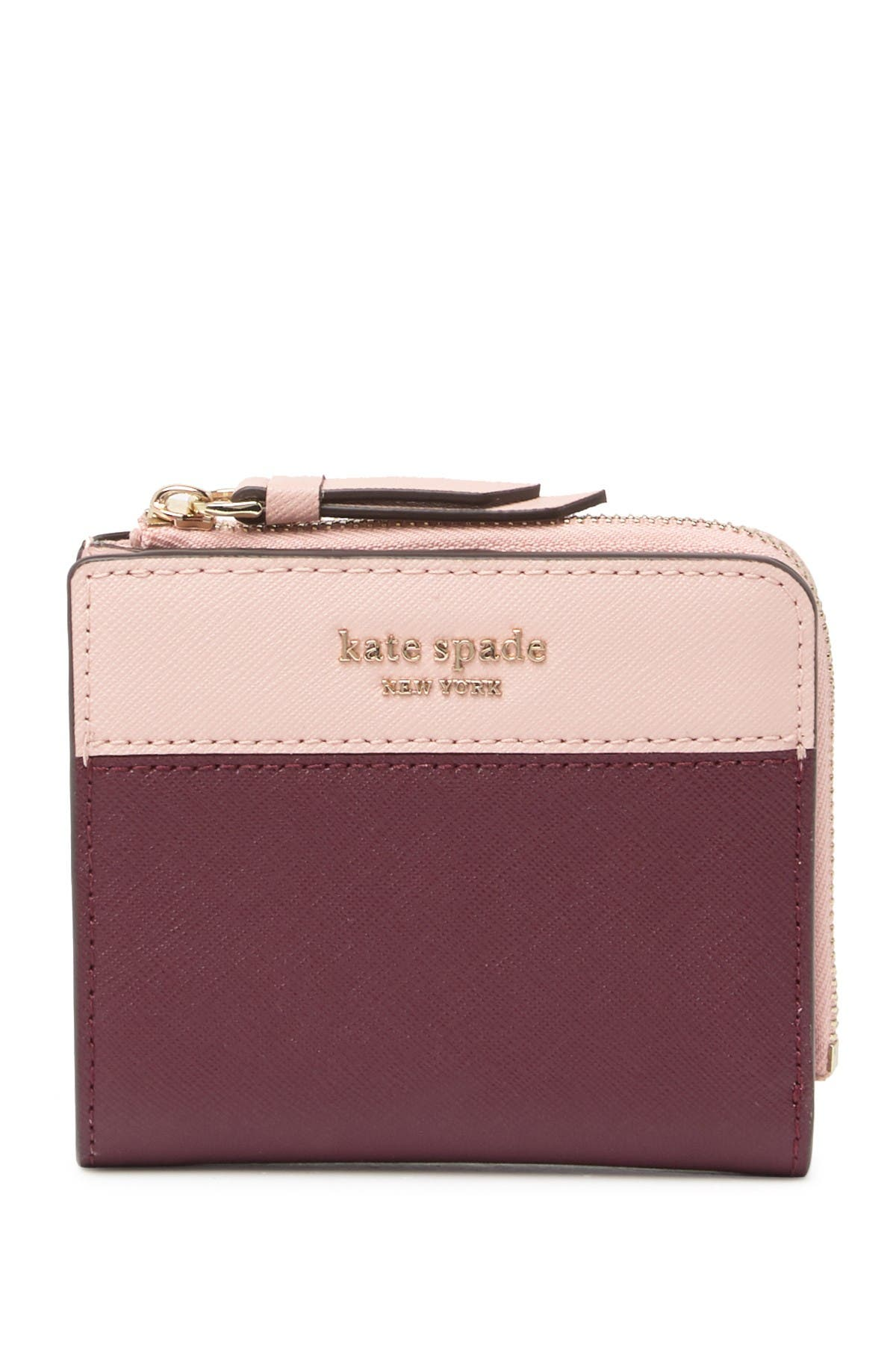 Image of kate spade new york cameron leather small bifold wallet
