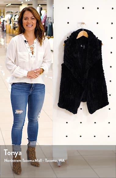 Drape Front Faux Fur Vest, sales video thumbnail