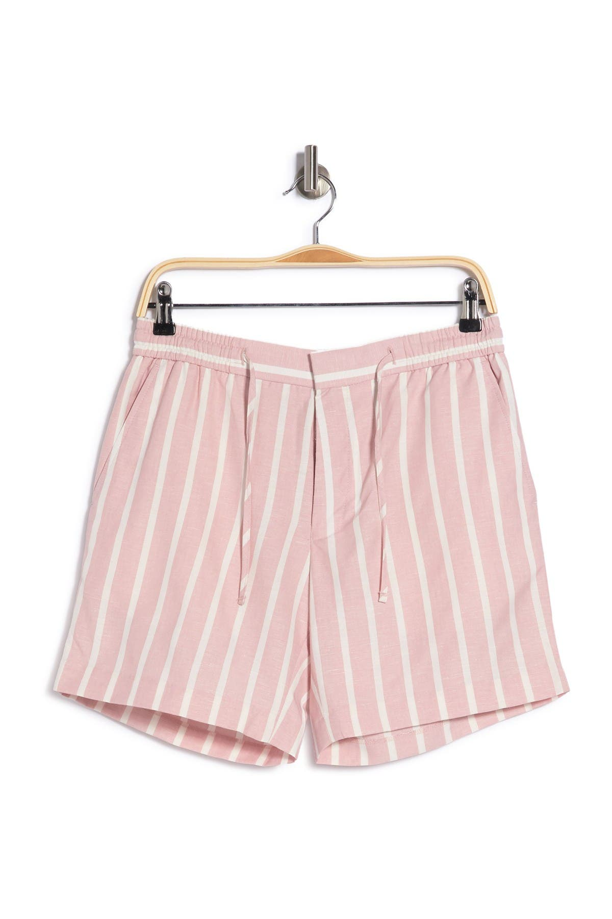 Image of TOPMAN Pleated Pink Stripe Shorts
