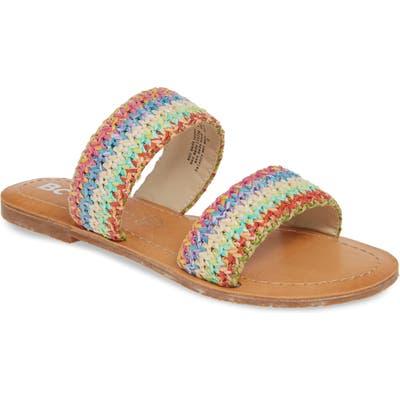 Bc Footwear Vegan Woven Strap Sandal, Red