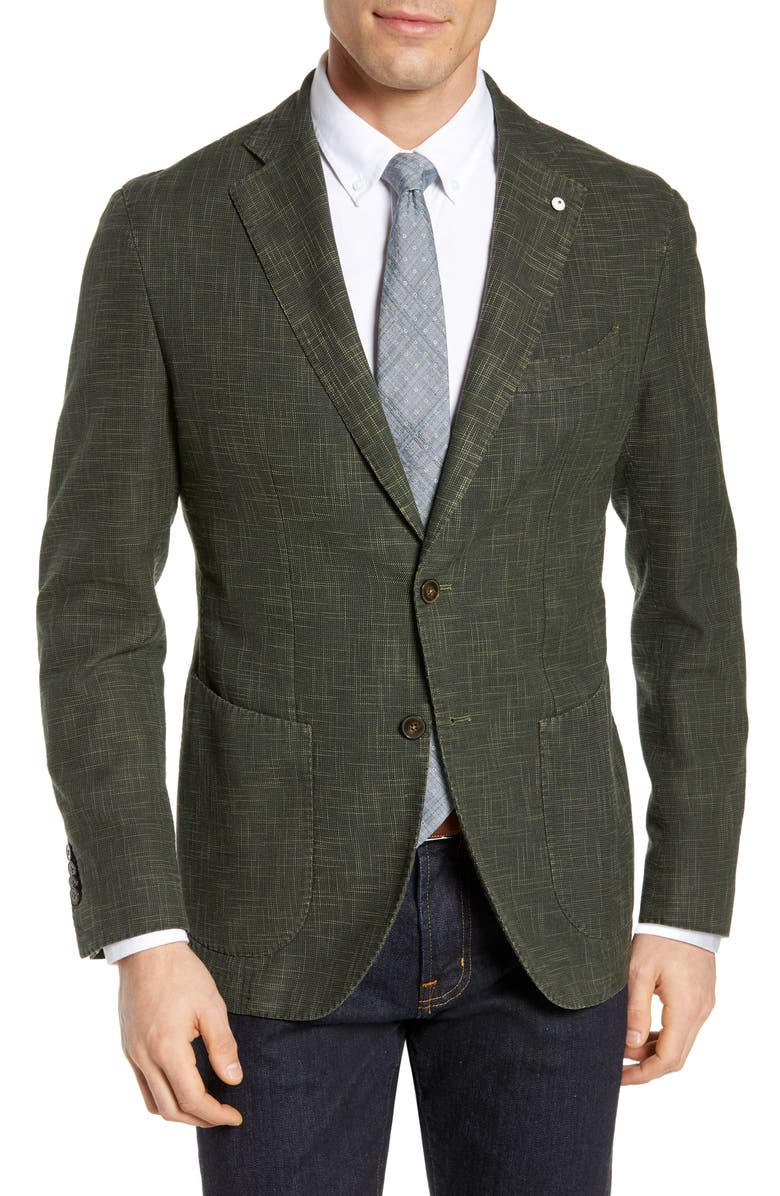 L.B.M. 1911 Trim Fit Cotton Blend Sport Coat, Main, color, 301
