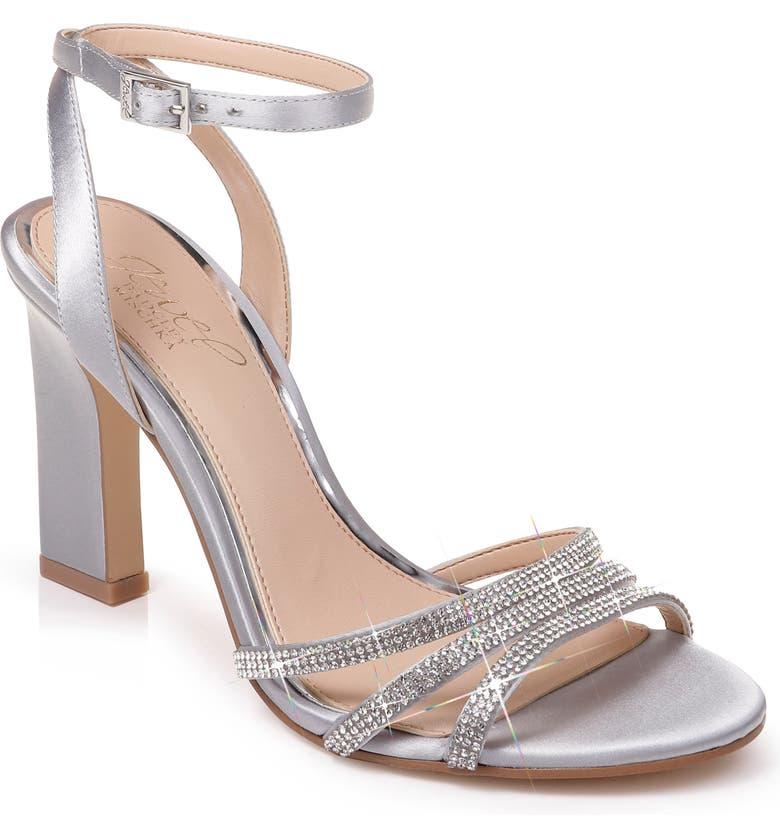 JEWEL BADGLEY MISCHKA Crystal Embellished Ankle Strap Sandal, Main, color, 045
