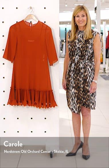 Ruffle Hem Shift Dress, sales video thumbnail