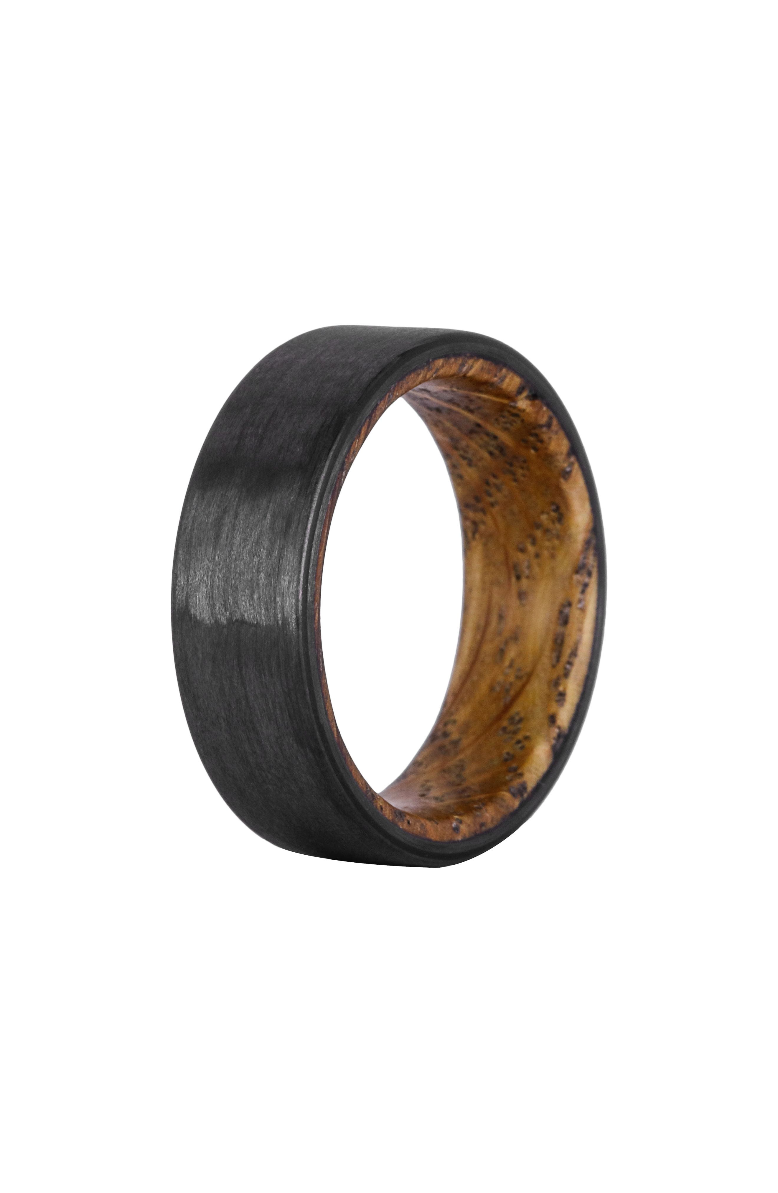 Whiskey Barrel Wood & Carbon Fiber Ring