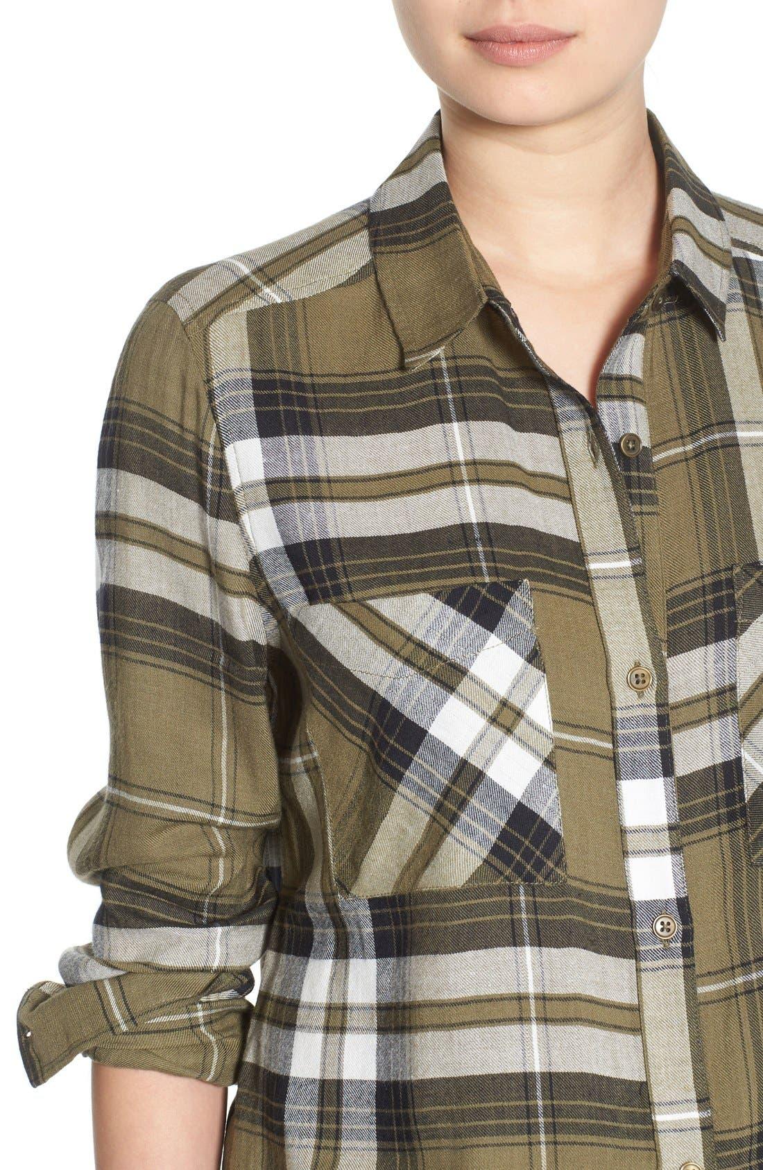 ,                             Plaid Tunic Shirt,                             Alternate thumbnail 24, color,                             315