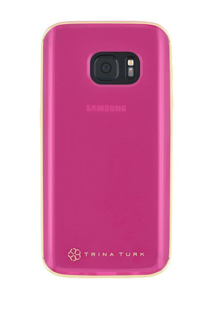 Image of Trina Turk Translucent Samsung Phone Case - Pink - Galaxy S7 Edge
