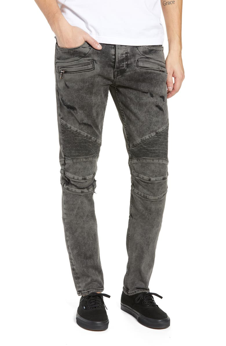 HUDSON JEANS Blinder Biker Skinny Fit Jeans, Main, color, FADE GRAPHITE