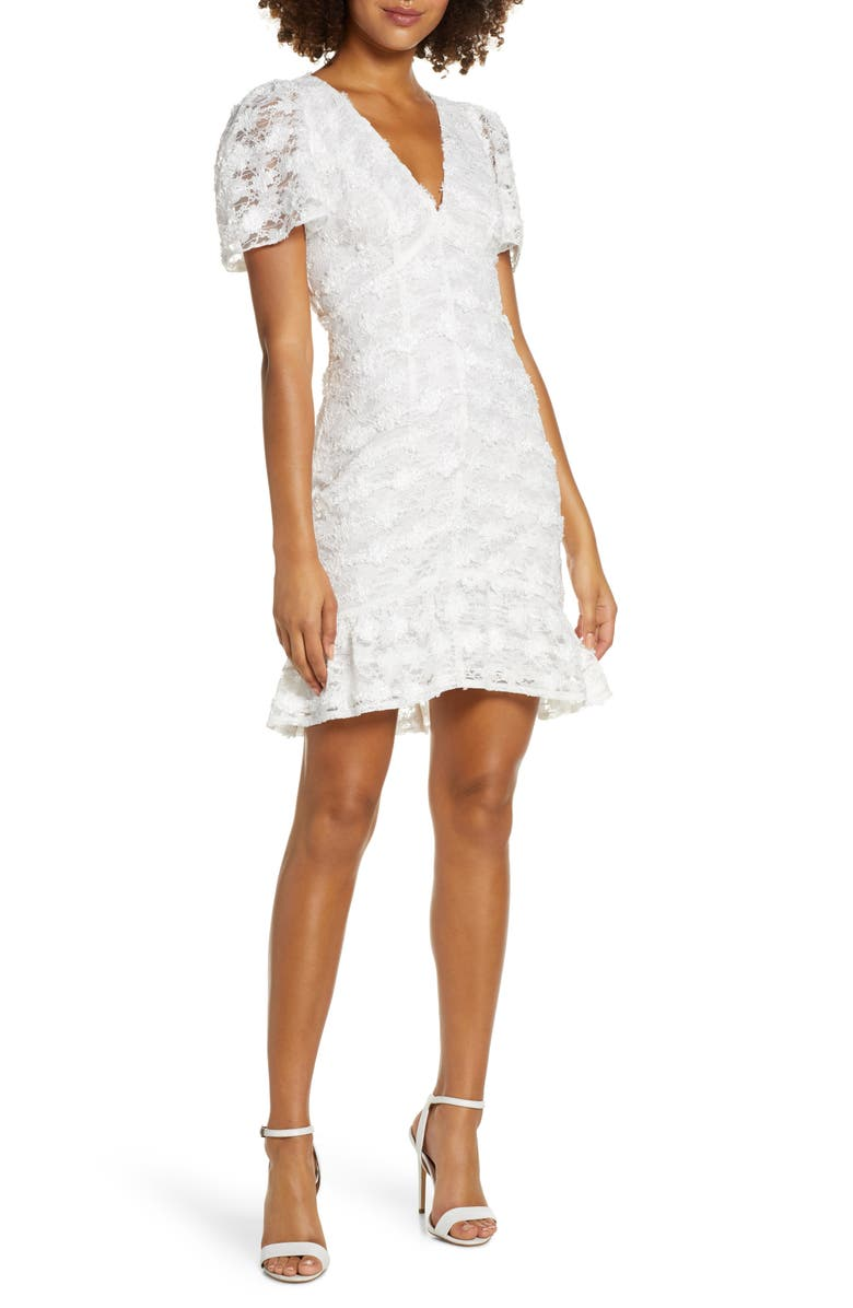 FOXIEDOX Lou Lace Dress, Main, color, WHITE