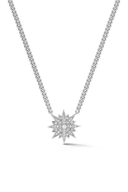 Image of Sphera Milano Silver Starburst Curb Necklace