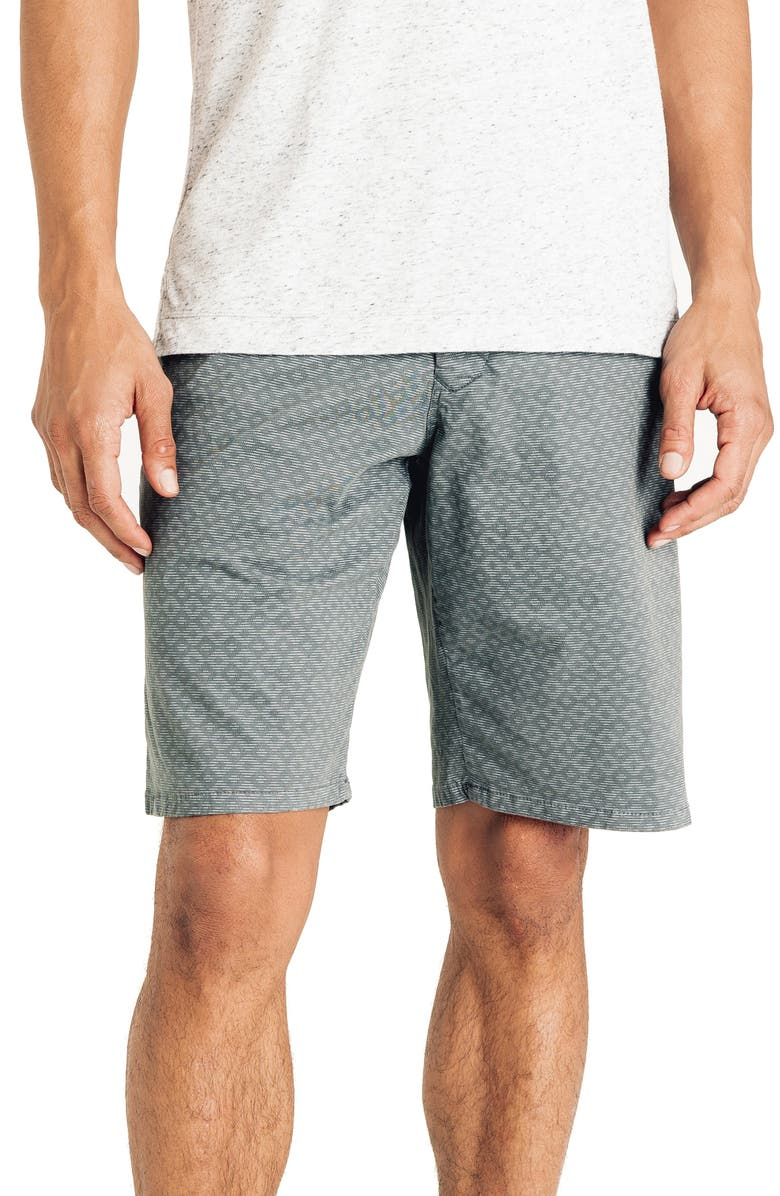 GOOD MAN BRAND Slim Fit Diamond Stripe Shorts, Main, color, FROST GREY