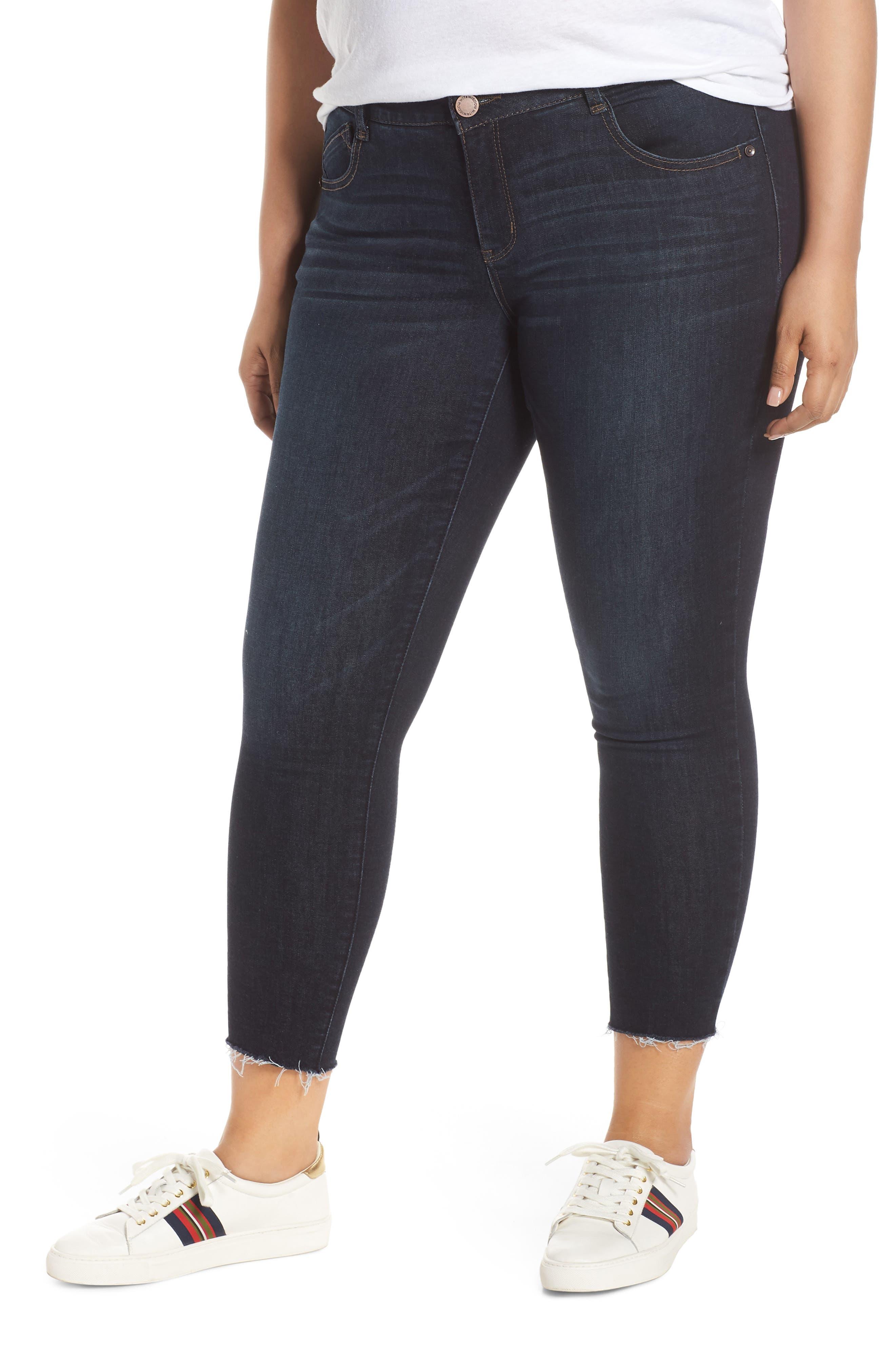 ,                             Ab-Solution High Waist Ankle Skinny Jeans,                             Main thumbnail 1, color,                             INDIGO
