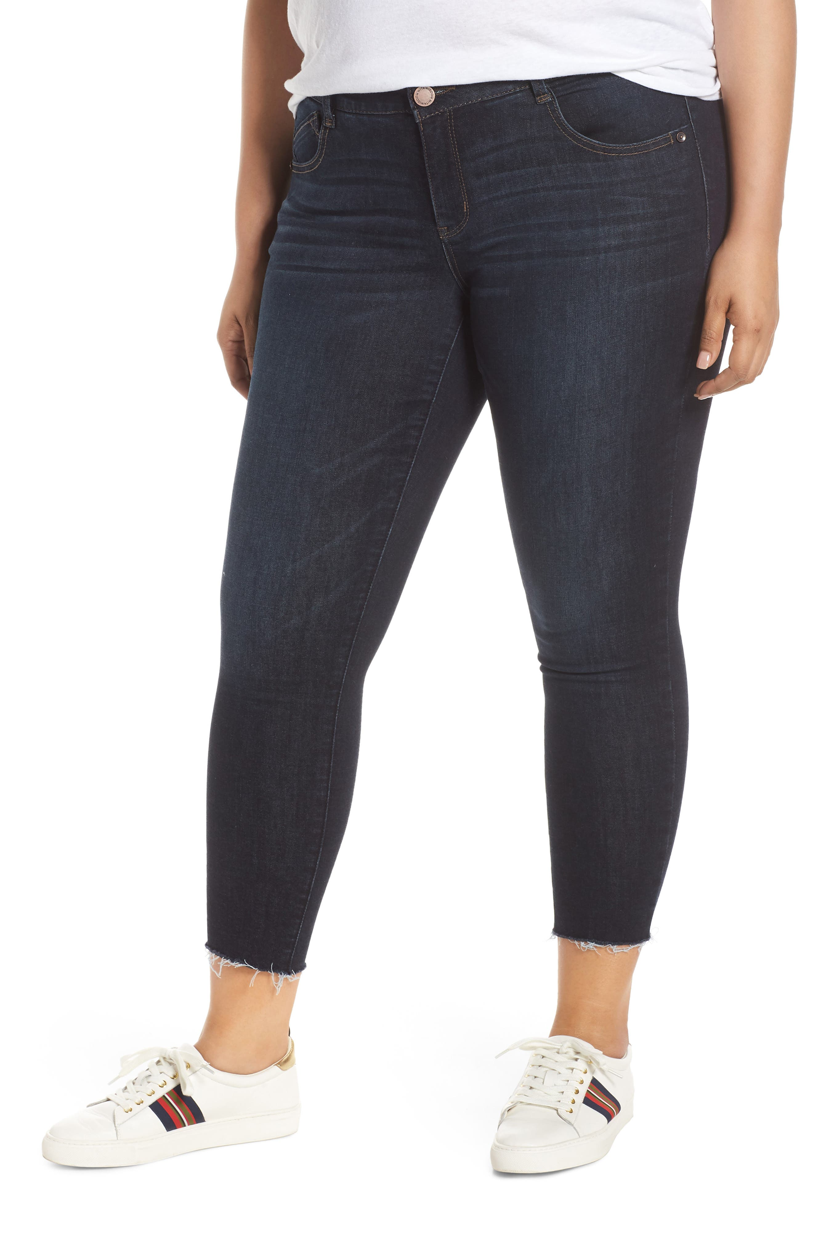 Ab-Solution High Waist Ankle Skinny Jeans, Main, color, INDIGO