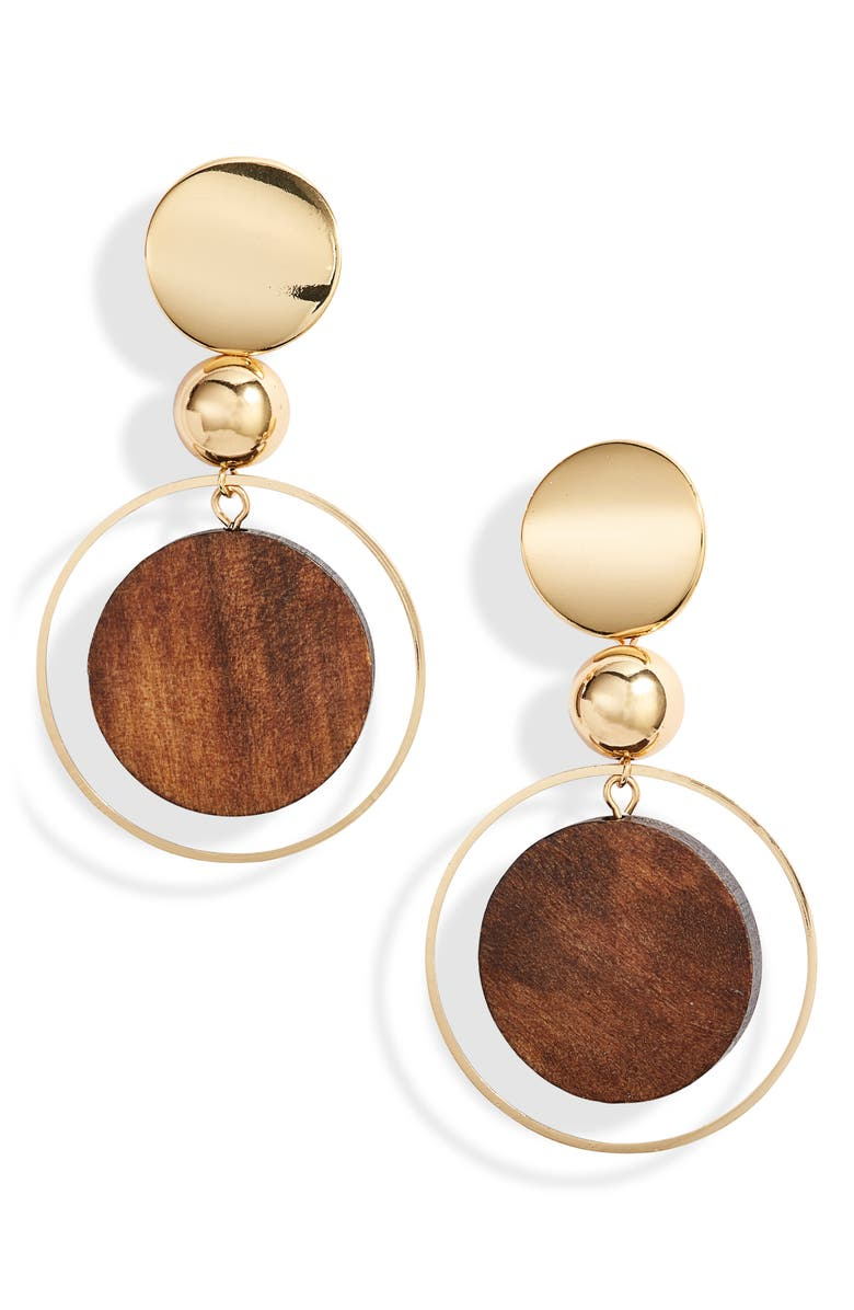 Ettika Wood Disc Earrings Nordstrom