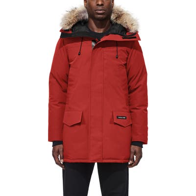 Canada Goose Langford Slim Fit Down Parka With Genuine Coyote Fur Trim, Red
