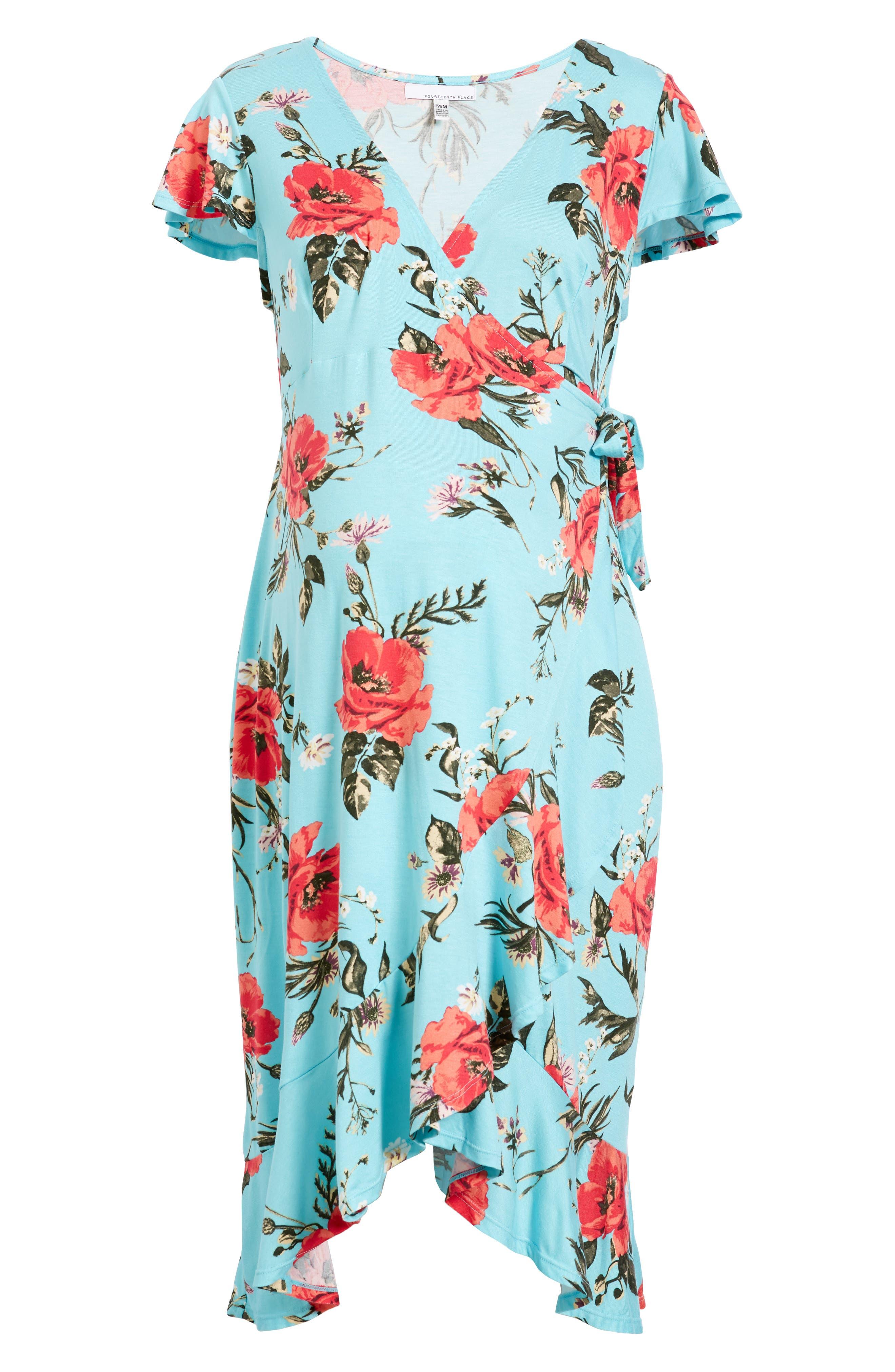 Flutter Sleeve Wrap Maternity Dress