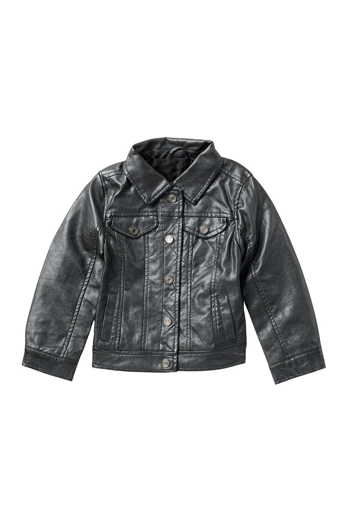 Urban Republic Metallic Faux Leather Trucker Jacket