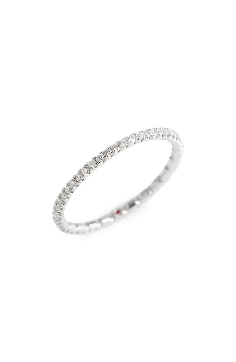 ROBERTO COIN Diamond Pavé Ring, Main, color, WHITE GOLD