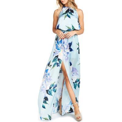 Show Me Your Mumu Heather Chiffon Halter Gown, Green
