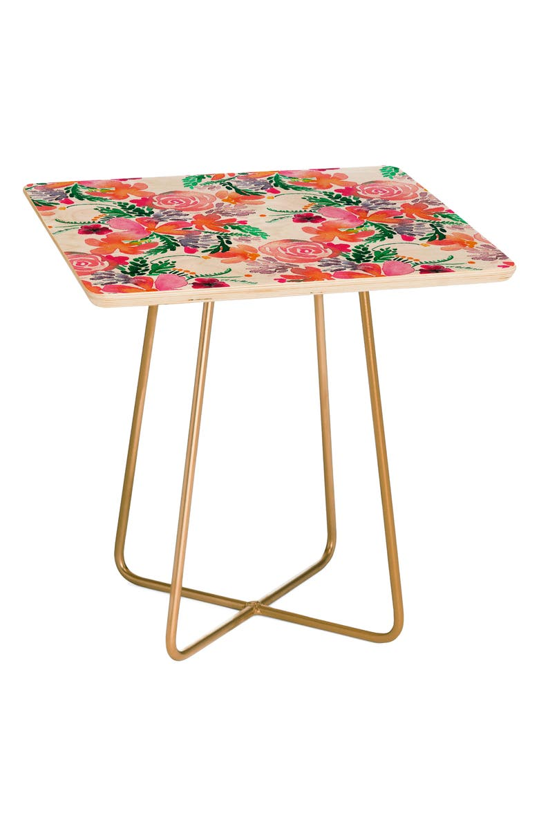 DENY DESIGNS Sweet Bloom Side Table, Main, color, PINK