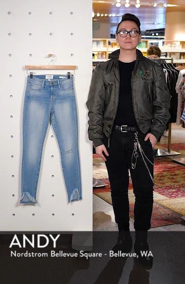 Le Skinny de Jeanne Frayed Ankle Skinny Jeans, sales video thumbnail