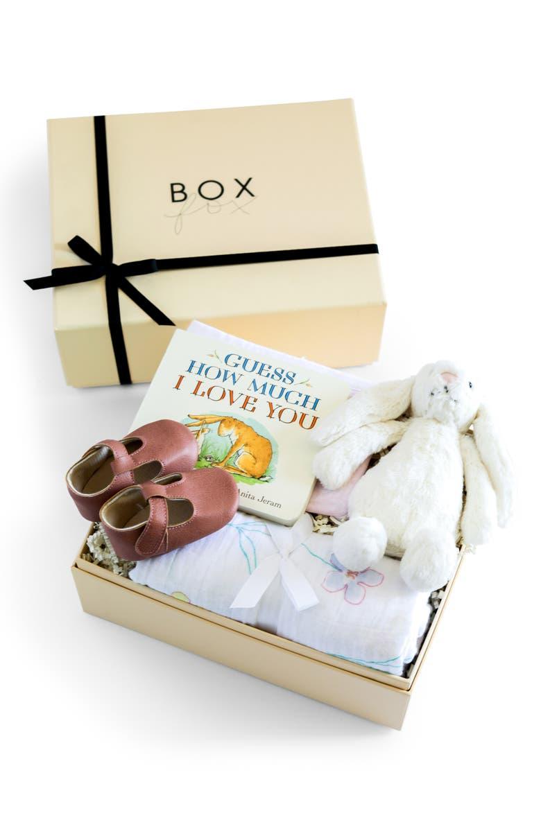 BOXFOX New Baby Girl Gift Box, Main, color, NUDE