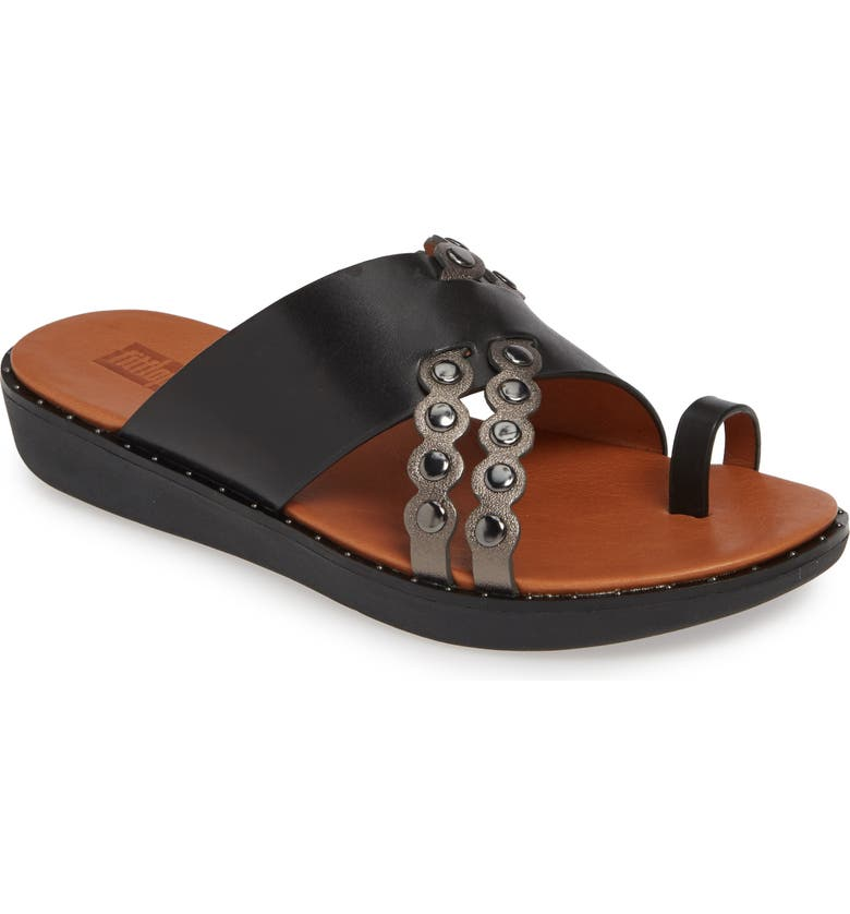 FITFLOP Scallop Slide Sandal, Main, color, BLACK