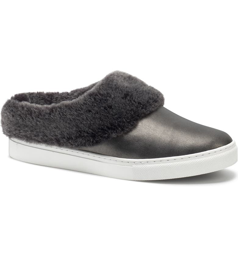 TRASK Lisa Genuine Shearling Trim Slip-On Sneaker, Main, color, 040