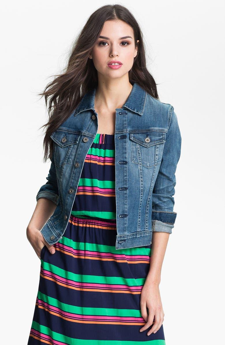 AG 'Robyn' Denim Jacket, Main, color, 400
