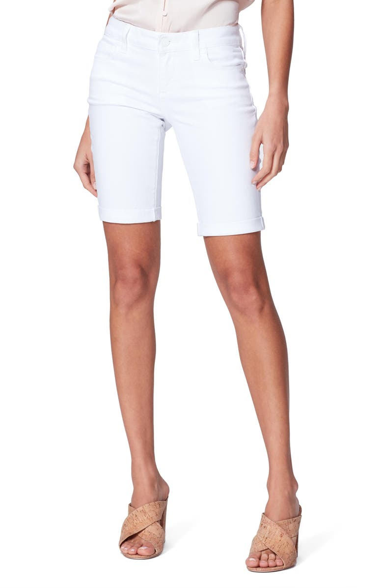 PAIGE Jax Denim Bermuda Shorts, Main, color, CRISP WHITE