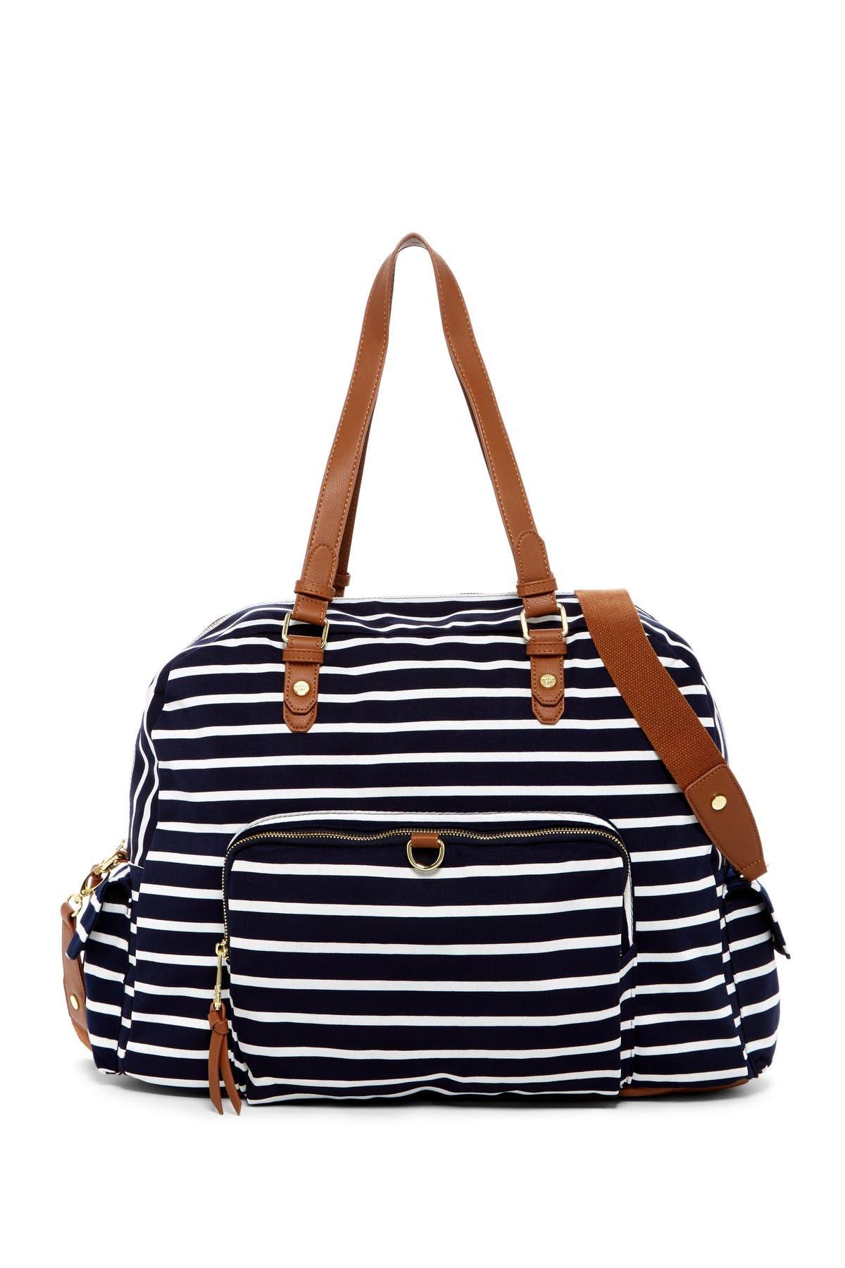 Image of Madden Girl Glory Stripe Large Jersey Weekend Bag