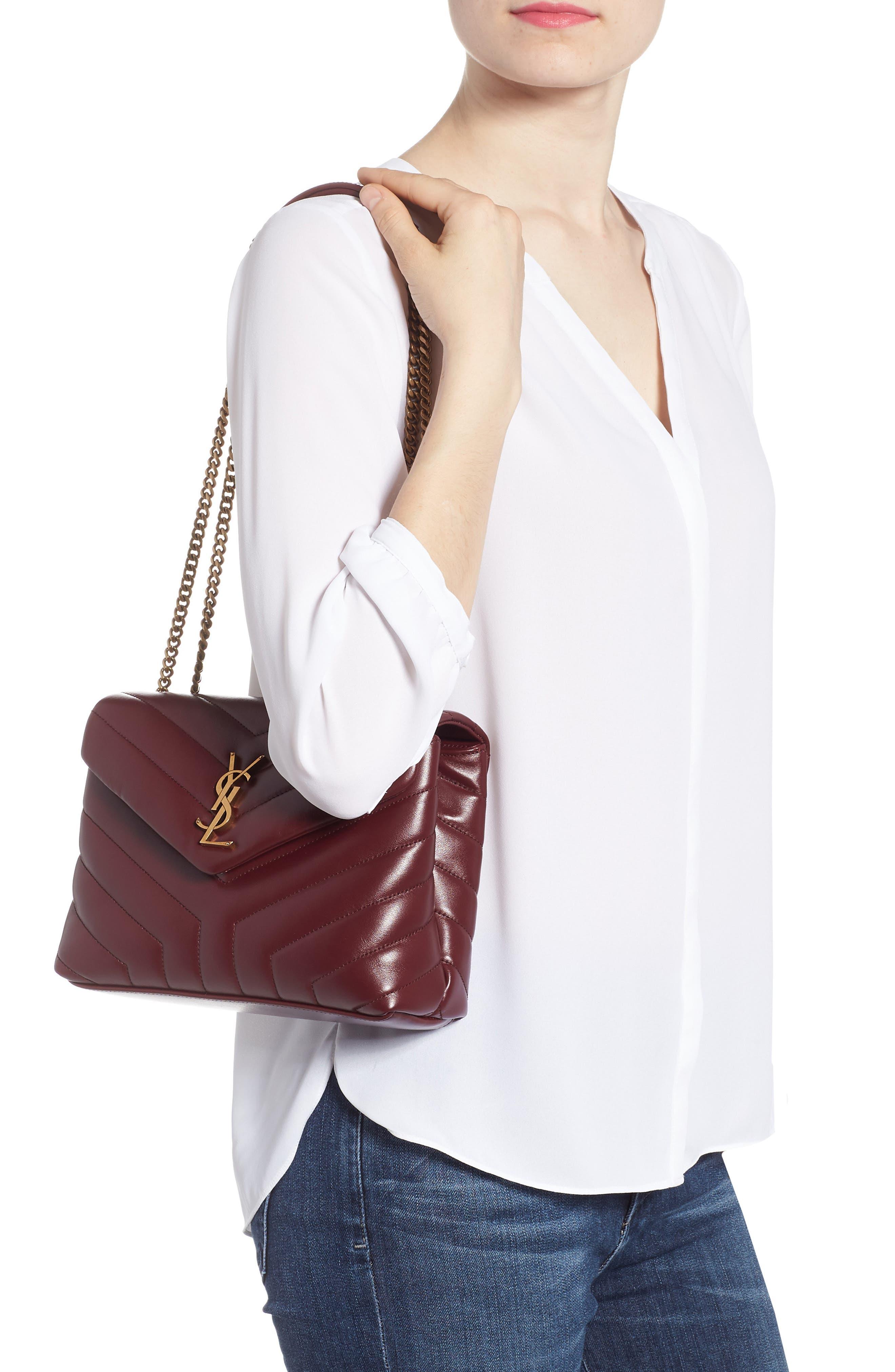 ,                             Small Loulou Leather Shoulder Bag,                             Alternate thumbnail 29, color,                             930