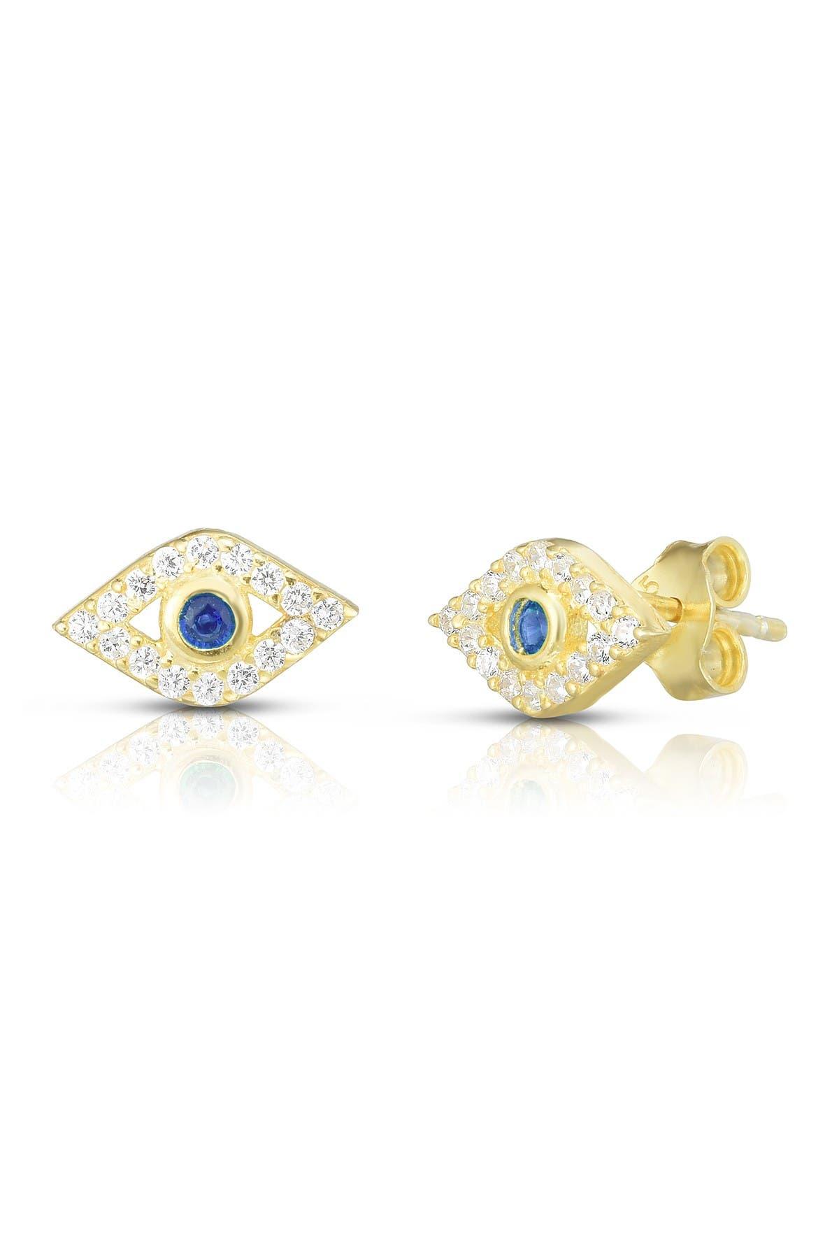 Image of Sphera Milano Gold Vermeil Evil Eye Stud Earrings