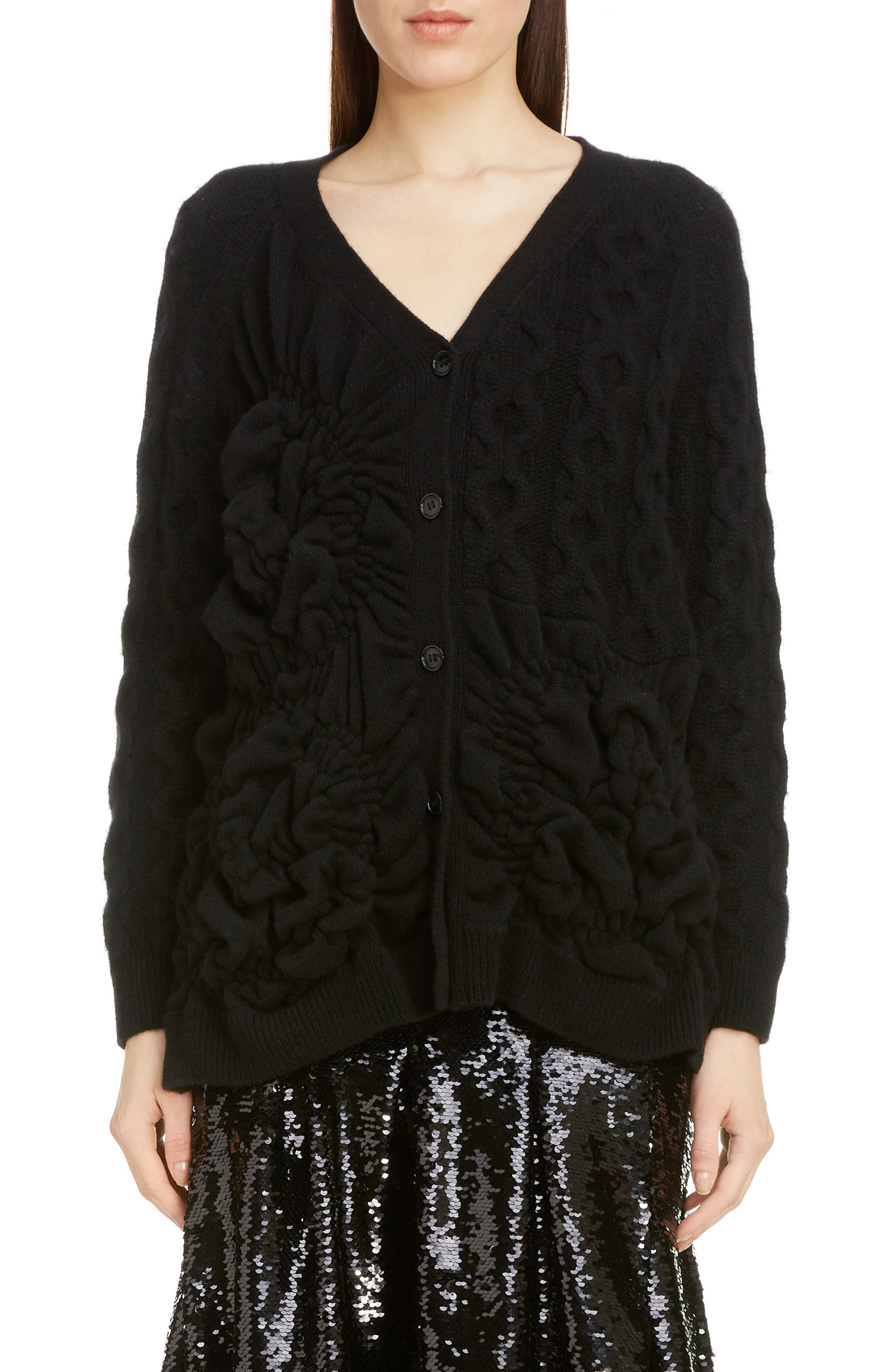 Simone Rocha Tops Oversize Cashmere Blend Cardigan