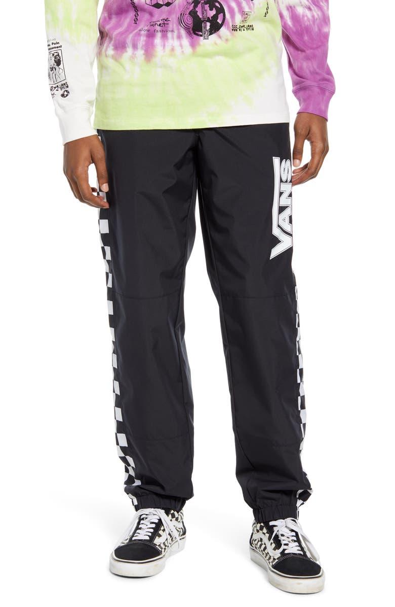 VANS BMX Off the Wall Track Pants, Main, color, BLACK